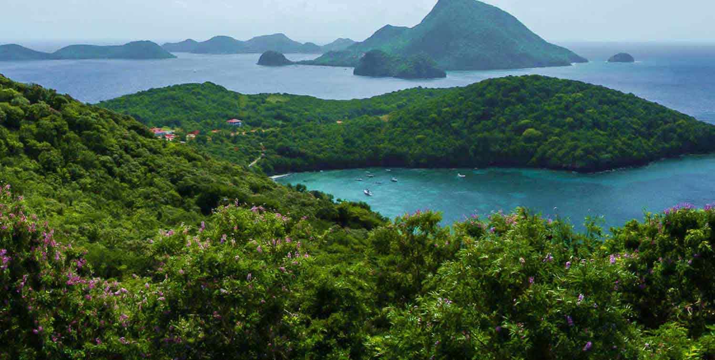 Location maison vacances avec piscine et vue mer saint for Cuisine ouverte guadeloupe